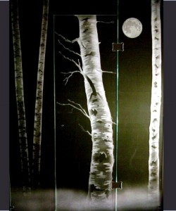 Night Birch Shower
